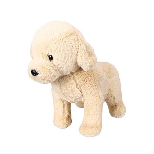 Oso de peluche con ojos grandes brillantes, hecho a mano, juguete realista para niños, peluche suave (marrón-a)