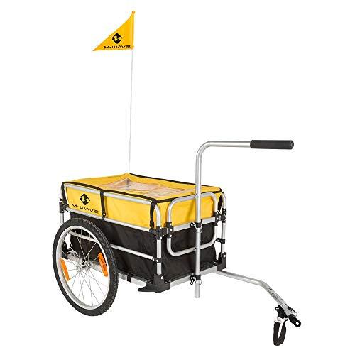 M-Wave Stalwart Carry Fold 1 - Remolque Plegable para Bicicleta, Color Plateado, Talla única