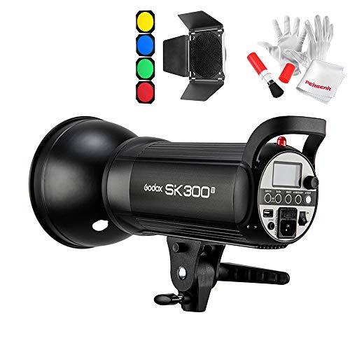 【1年保証】Godox SK300II スタジオ撮影 ストロボフラッシュライト300Ws GN65 150Wモデリングランプ 2.4GワイヤレスXシステ ム内蔵 光量調節可能 Bowensマウント 標準リフレクターディフューザーキット同梱