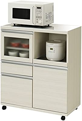 フナモコ ハイタイプキッチンカウンター 幅84.8×高さ98.3cm ホワイトウッド MRS-85