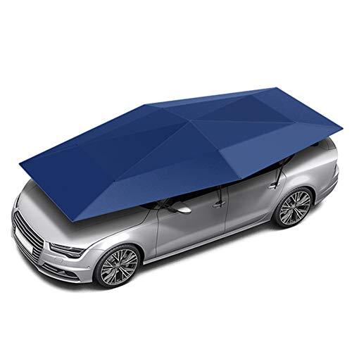 WYW Car Cover UV Protection 4.5M Manual Semi Automatic Car Cover Umbrella Car Sun Shade Sun Roof Cover Tent Umbrella Car Packing Protection