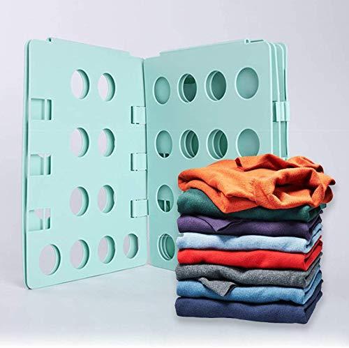 Tablero Plegable Ajustable para Plegable del Lavadero Ropa De Adultos Niños con Bolsa De Almacenamiento para Pantalones Camisa Ropa Doblador De Ropa Doblar La Ropa,Verde