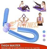 FFitness FSTM028C ATTREZZO Ginnico Thigh Master per ALLENARE Gambe E Braccia | Home Fitness Trimmer | Allenamento Interno Coscia (Celeste)
