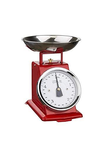 Soehnle 7915011 bilancia da cucina Mechanical kitchen scale Rosso, Acciaio inossidabile