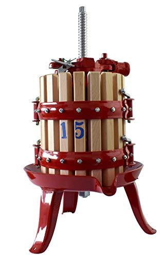 Duhalle - Exprimidor de frutas, jaula de madera y acero inoxidable, 6 litros