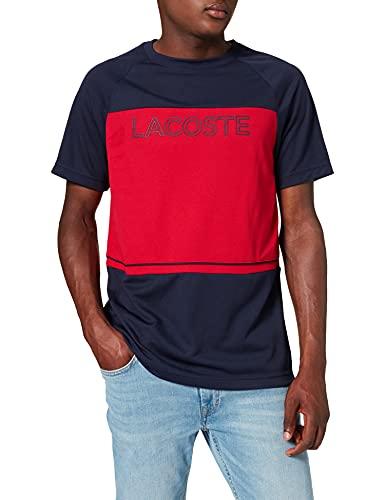 Lacoste Herren TH0791 T-Shirt, Marine/Rubis, L