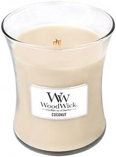 Coconut?–?WoodWick 10oz Medium Jar Candle Burns 100時間