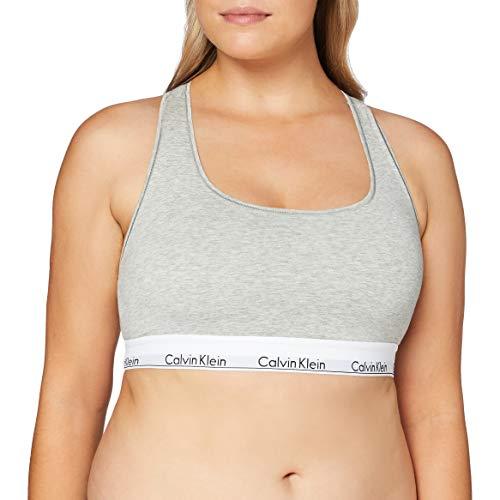 Calvin Klein Damen Unlined Bralette, Grau (Grey Heather 020), (Herstellergröße: 2XL)
