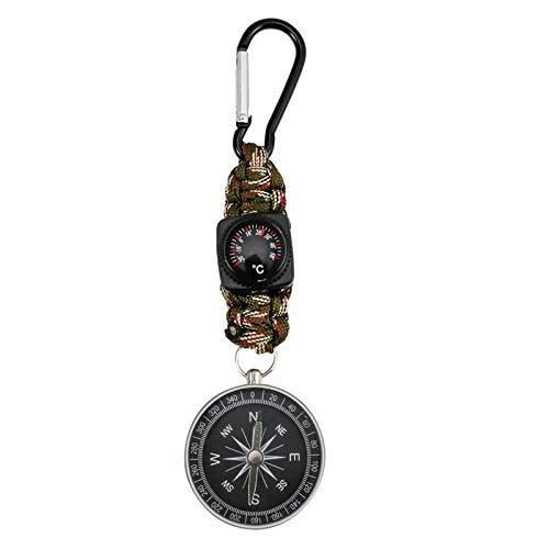 KNMY Kompasse Outdoor, Kompass Schlüsselanhänger 4-in-1 Multifunktionsgerät, Kompass Karabiner Gute Geschenkauswahl, Kompass Wanderführerfür Camping Jagd und Aktivitäten im Freien