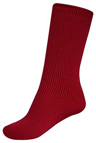 Thermo-Socken für Kinder: Heat Holders-Thermostrümpfe für Kinder - lang - geeignet für Gummistiefel - Pillar Box Red - Kinder: 27-33½