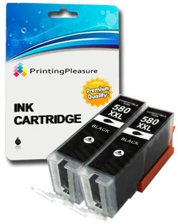 2 XXL Pigment SCHWARZ Premium PGI-580XXL PGBK Druckerpatronen für Canon Pixma TR7550, TR8550, TS6150, TS6151, TS8150, TS8151, TS8152, TS9150, TS9155 | PGI-580PGBK XXL