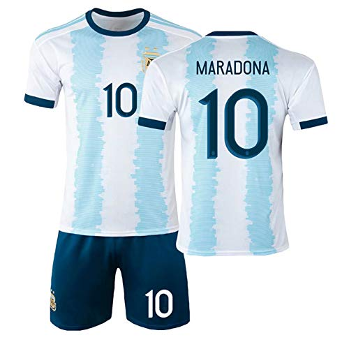 Camiseta De Fútbol De Argentina 1920 Copa del Mundo Mǎrǎdǒnǎ 10# Camiseta...