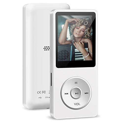 Reproductor MP3, Reproductor de Música con 32GB Tarjeta, MP3 Running HiFi Lossless Sound con Radio/Vídeo/Grabación de Voz/E-Book, Soporta TF hasta 128GB (Auriculares Incluido)