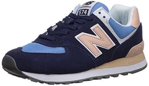 New Balance Damen WL574 B Sneaker, Blau (Navy/Pink Navy/Pink), 40 EU