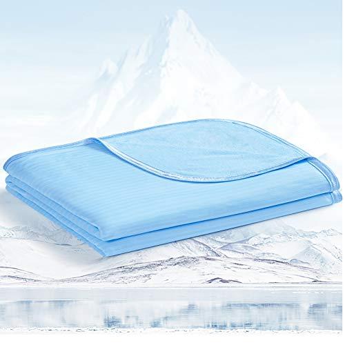 Avoalre 2 in 1 kühlende Kuscheldecke aus Bambusfaser, Arc-Chill Sommerdecke mit Q-Max 0,34 Selbstkühlende Decke, Weiche Kühldecke für Kinder & Erwachsene 150cmx200cm