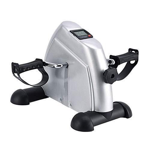 RXRENXIA Mini Bike Home Trainer, Mini Pedal de Ejercicio Pedal de Ejercicio con Monitor LCD y Volar en el Ejercicio de la Oficina y GP con Relieve Antideslizante ⭐