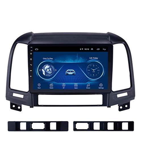 Android 8.1 - Radio de navegación GPS para Hyundai Santa Fe 2005 – 2012, con DAB + CD DVD compatible con control de volante, Bluetooth, USB, FM, AM, color negro