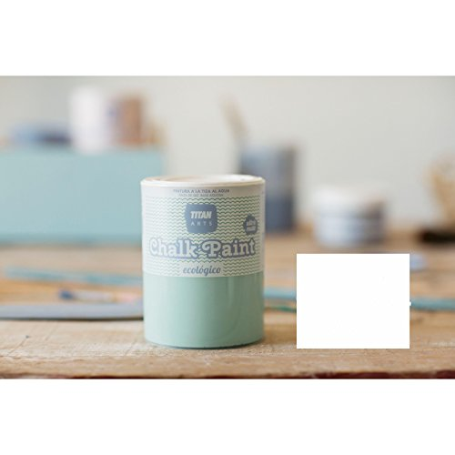 CHALK PAINT TITAN ARTS ULTRA MATE 250ML PINTURA A LA TIZA (MERENGUE BLANCO)