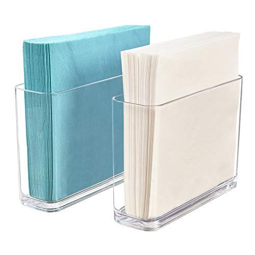 STORi Clear Plastic Holder for Napkins | set of 2