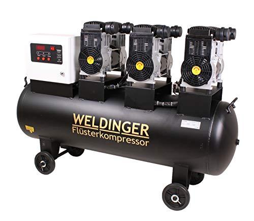 WELDINGER Flüsterkompressor FK 510 pro 4,8 kW Luftabgabe 510 l (Silentkompressor ölfrei wartungsfrei) 5 Jahre Garantie