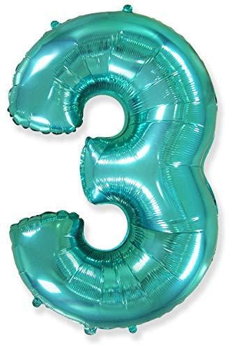 Número 3, Tiffany - Globo de Aluminio de 40