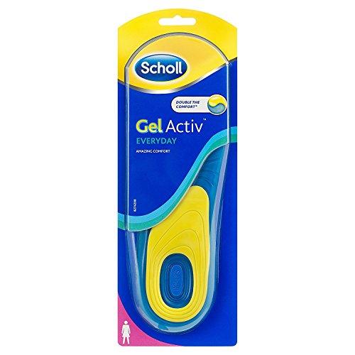 Scholl GelActiv Einlegesohlen Everyday für Freizeitschuhe von 35,5-40,5 – 1 Paar Gelsohlen