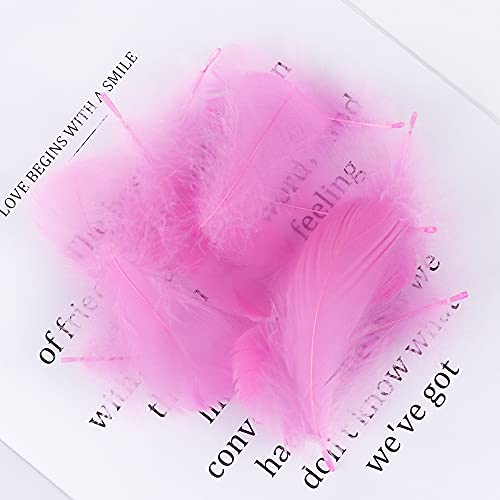 Plumas Decoracion, 50 Piezas/Lote Plumas de Ganso Coloridas 8-12 cm Plumas de Ganso Natural para artesanías DIY Fiesta de Boda Pluma de decoración (Color : Deep Pink)