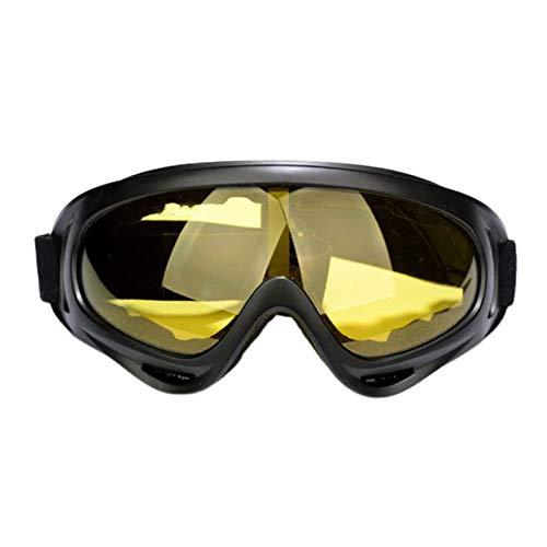 Milageto Gafas de Esquí de Invierno a Prueba de Viento Anti Niebla Casco de Snowboard Gafas Protección UV - Amarillo, El 18x8cm