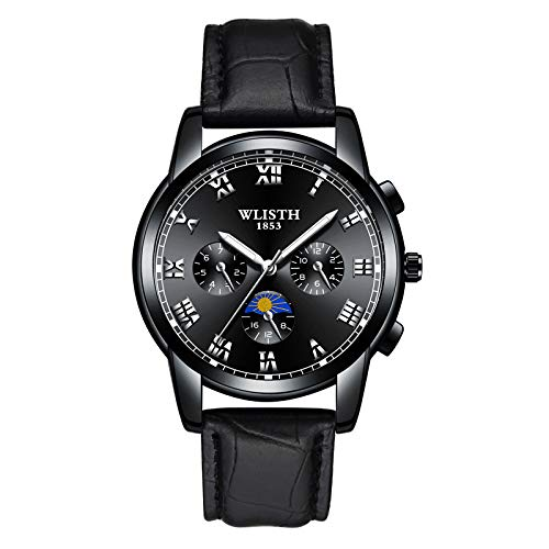 Watches, Mens Full Stainless Steel Luminous Quartz Watch Fashion Casual Business Wristwatch Waterproof 30M Water