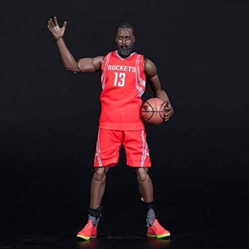 YUEDAI Figura de acción de 22 cm de la Serie NBA 13 James Harden Rockets edición Limitada de colección: Figuras de la NBA