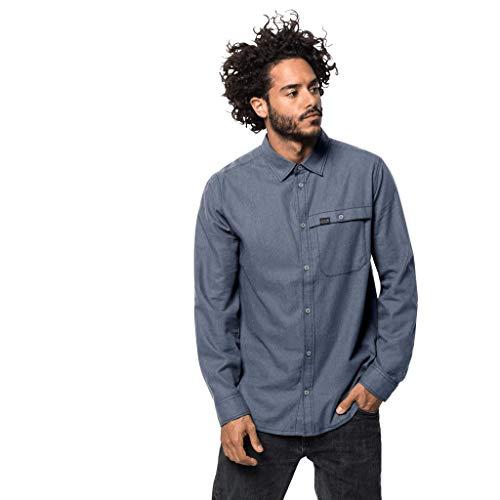 Jack Wolfskin Naka River Shirt Homme Night Blue FR: 2XL (Taille Fabricant: XXL)