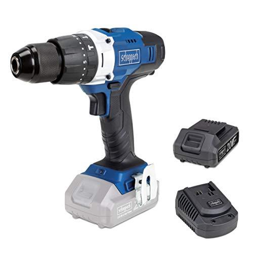 SCHEPPACH CCD45-20 | Akkuschrauber | 20 Volt | Schlagbohrmaschine | 45 Nm Drehmoment | LED Arbeitslicht | Inkl. 2 Ah Akku und Ladegerät