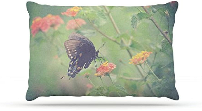 Kess InHouse Robin Dickinson Captivating II  Green Flower Dog Bed