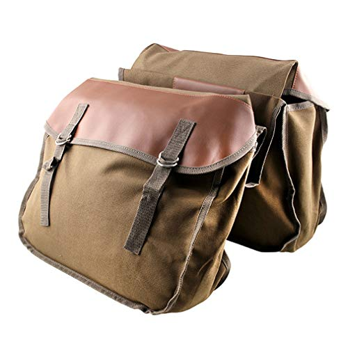 JOOFFF Motorrad Canvas Packtasche Satteltaschen, Gepäckpackung mit großer Kapazität Tank Tankrucksack,Braun
