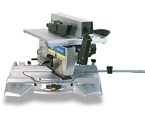 VIRUTEX 4300600 4300600-Ingletadora con Mesa Superior TM43L 230V 1100W Disco 250mm 5500 RPM 18 Kg, Negro