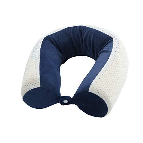 MSNLY La Almohada de Espuma viscoelástica en Forma de U Puede acomodar Almohadas en Forma de U, Almohadas de Viaje de Tela magnética de avión, Siesta, cojín de Soporte Suave para el Cuello