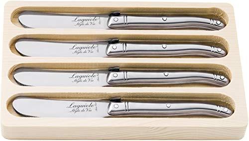 Laguiole Estilo De Vie Línea cuchillo de mantequilla, 4 piezas,