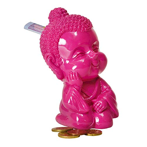 trendaffe Baby Buddha Spardose in pink - Baby-Buddha Sparbüchse Sparschwein