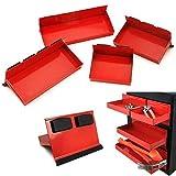 COLIBROX 4pc Magnetic Toolbox Tray Set Tool Box Cabinet Side Shelf Storage Van Workshop