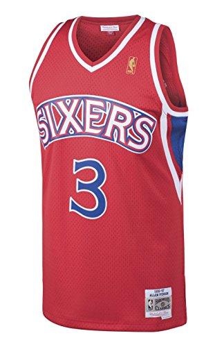 Allen Iverson Philadelphia 76ers NBA Mitchell & Ness Youth Swingman Jersey - Red