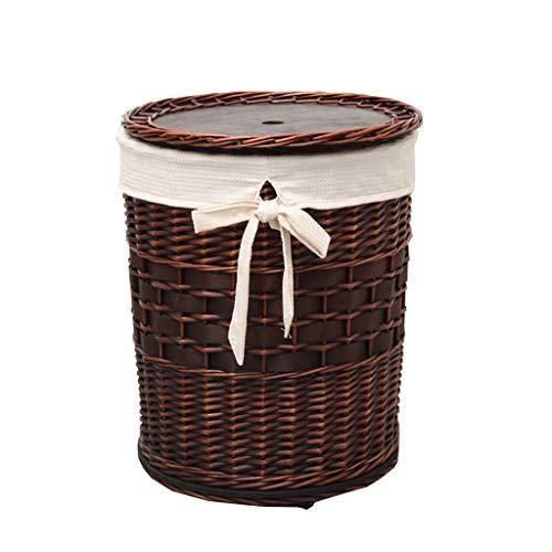 Canasta de almacenamiento multifuncional para el hogar Cesta de lavandería-Cesta de mimbre...
