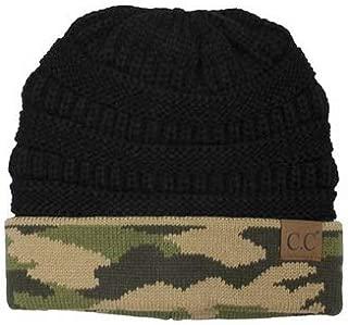 C.C Knit Camo Knit Beanie Hat Cap