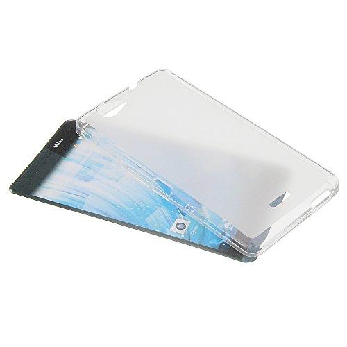foto-kontor Tasche für Wiko Getaway Gummi TPU Schutz Handytasche milchig transparent