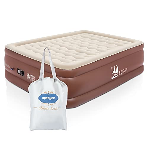 """Queen Air Mattress with Built-in Pump, 22"""" Raised Luxury Airbed Double High Inflatable Bed Blow Up Bed for Home & Camping"""