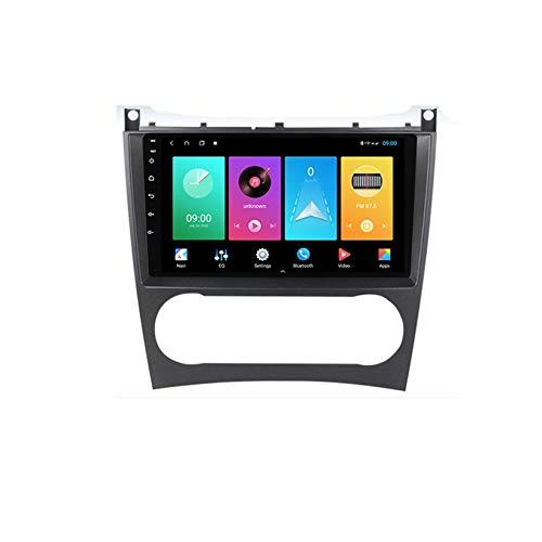 Android Car Stereo Radio Double Din Sat Nav Compatible con Mercedes Benz C Class W203 2004-2007 Navegación GPS Reproductor multimedia con pantalla táctil de 9 pulgadas Receptor de video con 4G DSP Ca