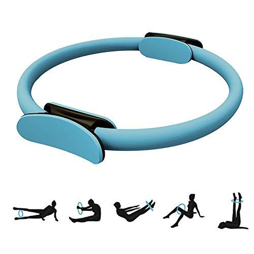 Anillo de pilates, círculo de pilates, 38 cm, para ejercicios de ejercicio, pilates, círculo de resistencia, yoga, gimnasio, entrenamiento para quemar grasa en el interior y los muslos externos.