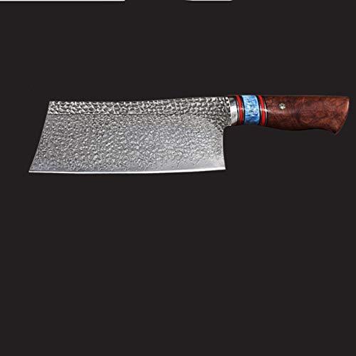 HaushaltKuche Cuchillos de Chef Hecho a Mano Chef Profesional Cuchillo de Acero VG10 Damasco Cuchillo de Cocina China Cleaver cocinar Cuchillos de Cocina Cubiertos (Color : Red)