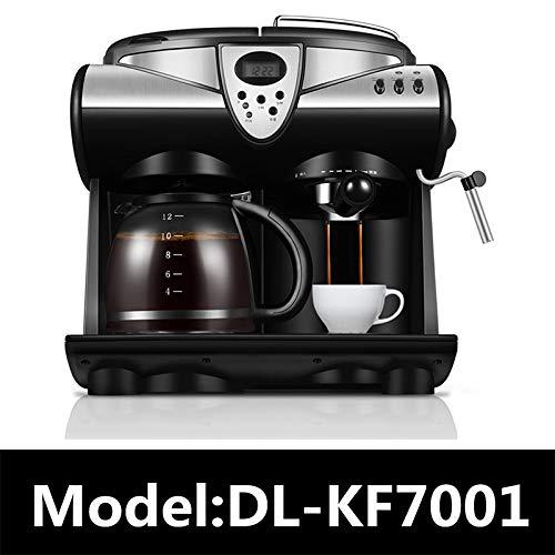 SISHUINIANHUA 1.5L Büro Automatische Espressomaschine American Cafe-Maschine Kaffeekanne Dampfblase Milchaufschäumer 20bar LCD-Bildschirm