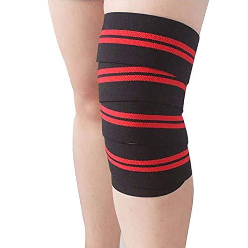 LINBUDAO Gewichtheffen elastisch verband voor ondersteuningsband voor kniebeentraining
