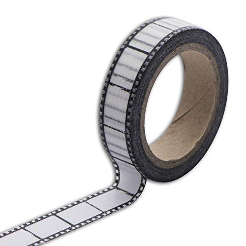 Toga MT100Kreppband Negativ Foto Washi Tape schwarz/weiß 5,5x 7x 1,5cm